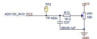 Подключение потенциометра к контакту РС3
