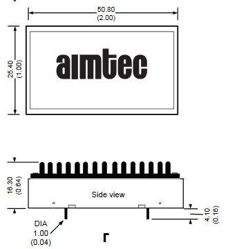 Варианты корпусов DC-DC преобразователей Aimtec