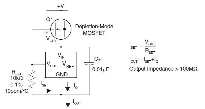 Использование MOSFET транзистора для источника прецизионного тока