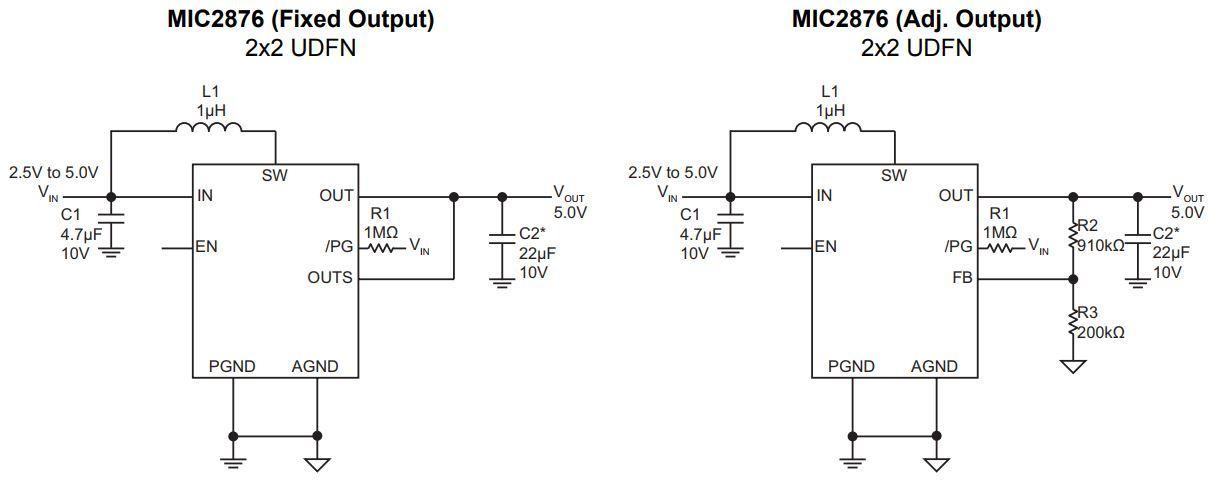 Схема включения MIC2876